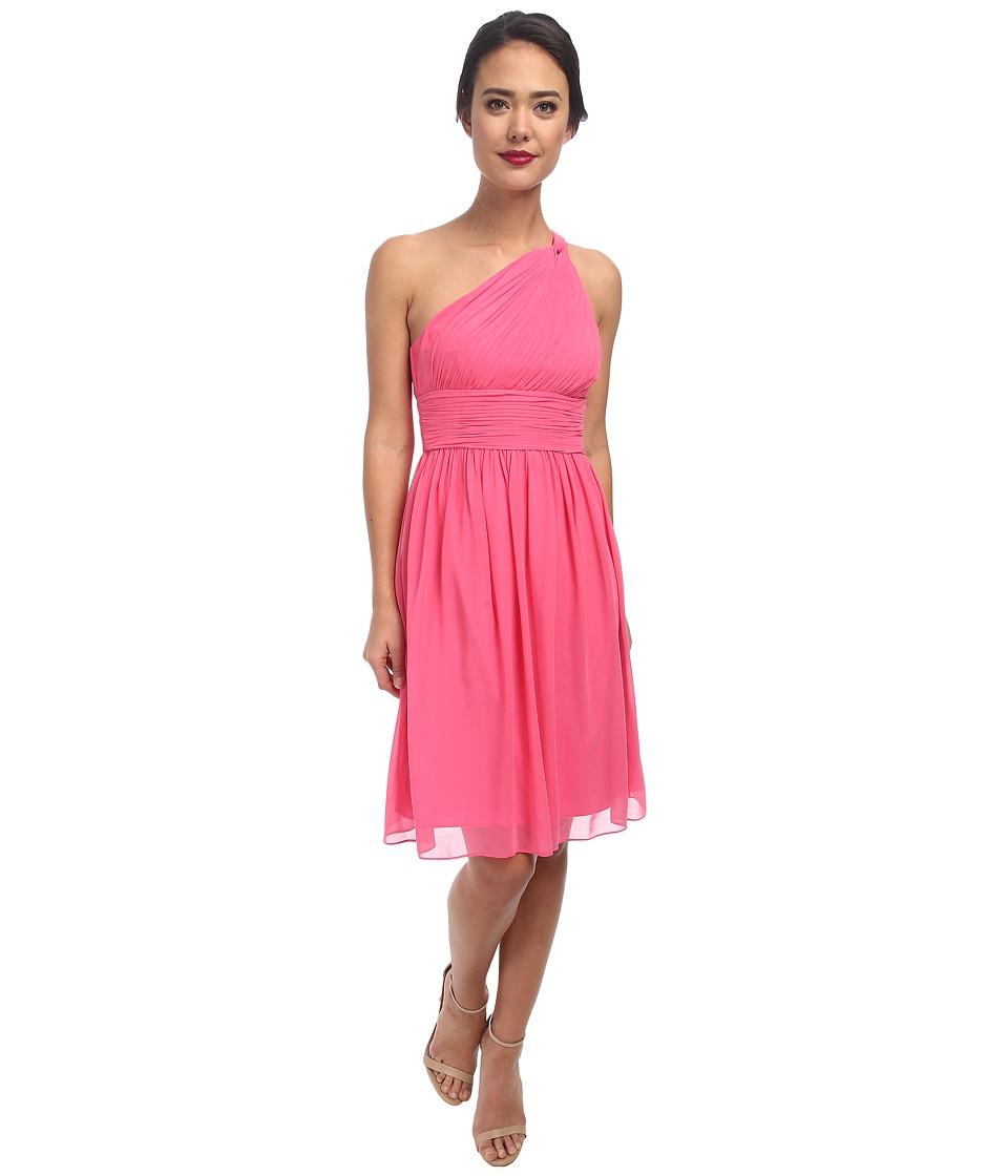 Donna Morgan - Rhea One-Shoulder Dress (Strawberry) Women's Dress