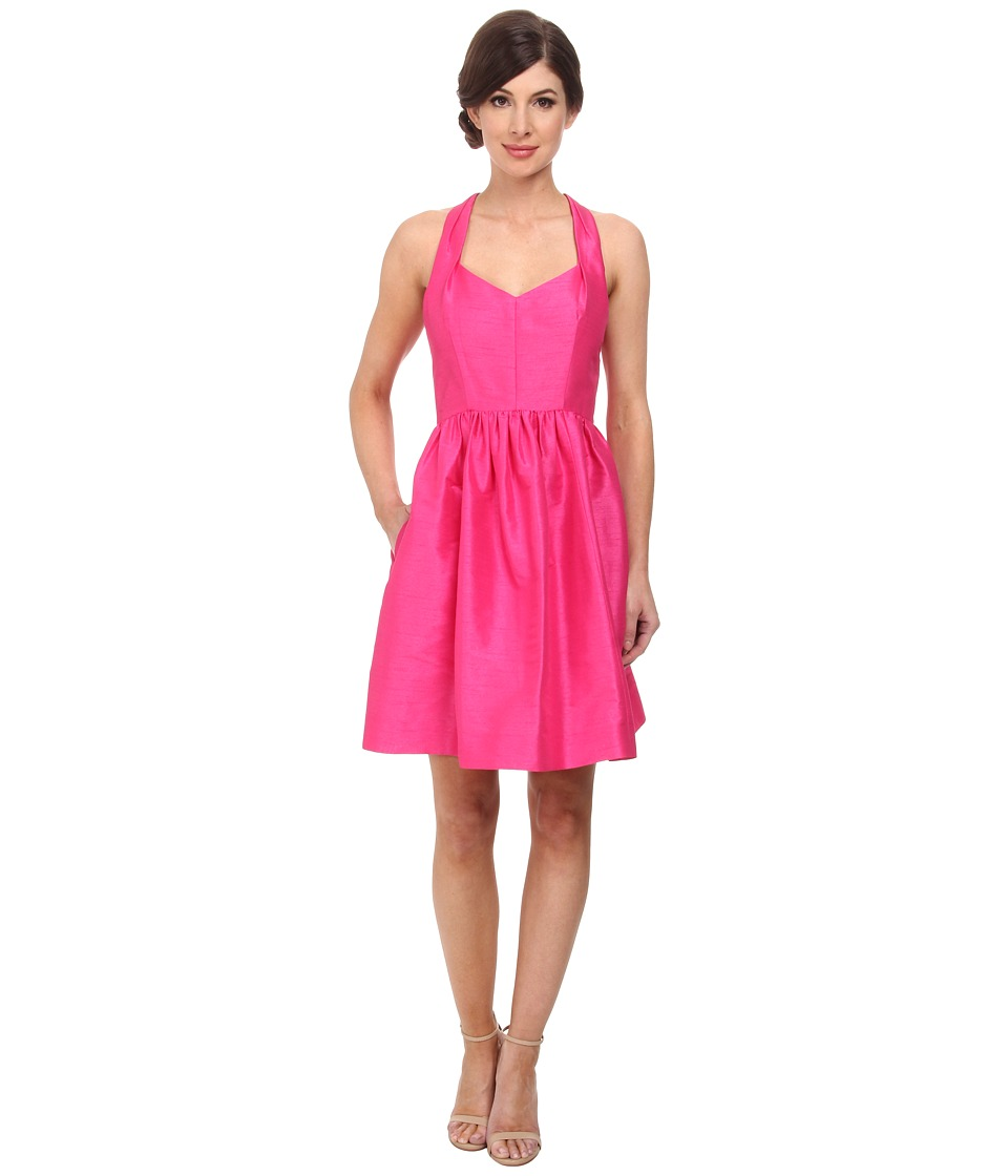Donna Morgan - Trish Halter Neck Shantung Dress (French Pink) Women's Dress