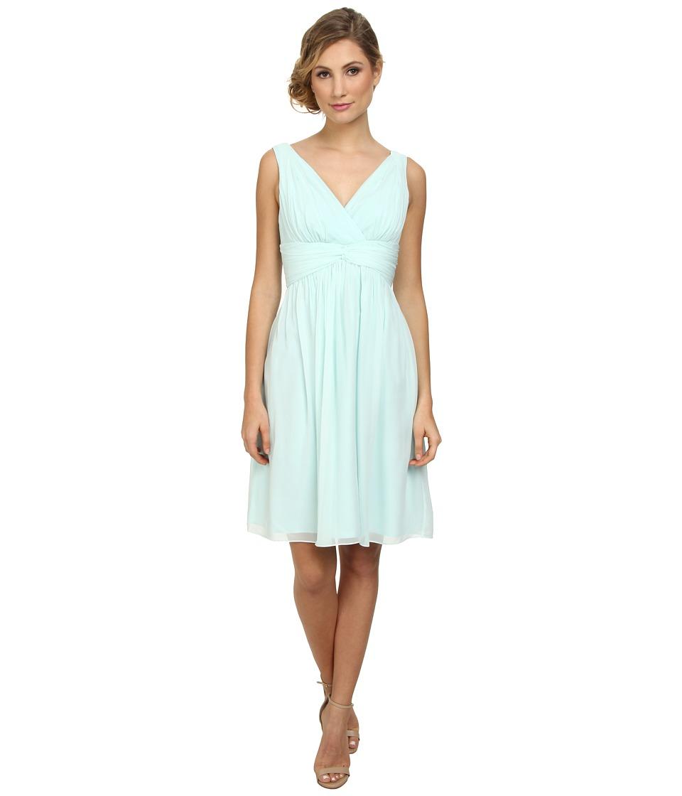 Donna Morgan - Jessie Silk Chiffon Dress (Beachglass) Women's Dress