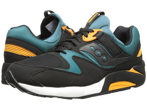 Saucony Originals - Grid 9000 (Black/Green) Men