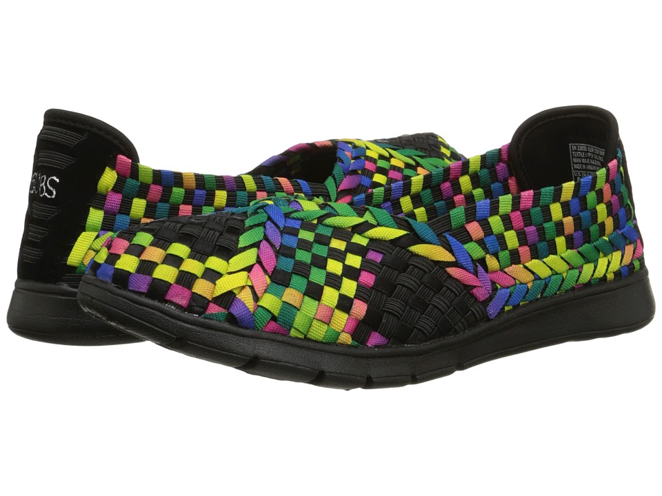 BOBS from SKECHERS - Pureflex - Hologram (Black/Multi) Women's Flat Shoes