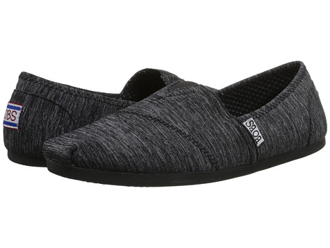 BOBS from SKECHERS - Bobs Plush (Black 1) Women's Flat Shoes
