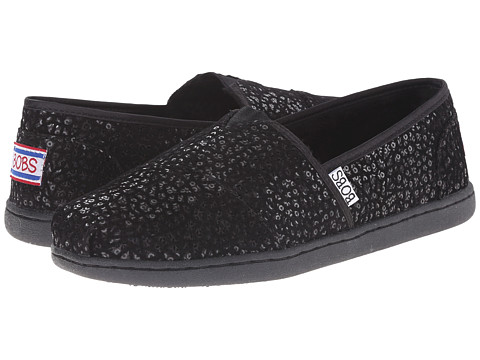 BOBS from SKECHERS - Bobs Bliss - Extra Extra (Black/Black) Women's Flat Shoes