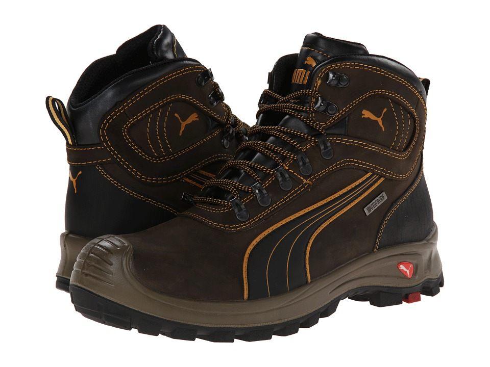 PUMA Safety - Sierra Nevada Mid WP EH (Brown) Men's Work Boots