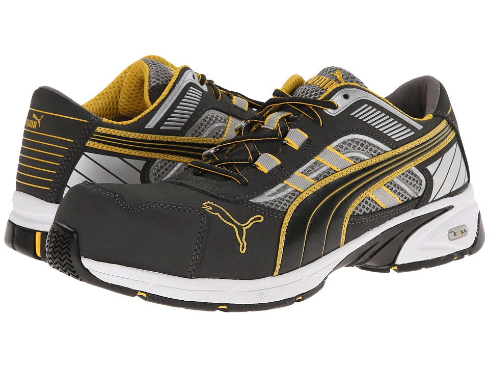 PUMA Safety Pace Low SD (Gray/Yellow) Men