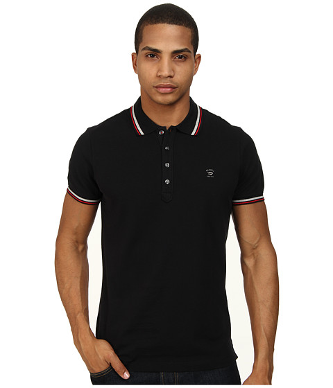 Diesel - T-Oin Polo (Black) Men's Clothing
