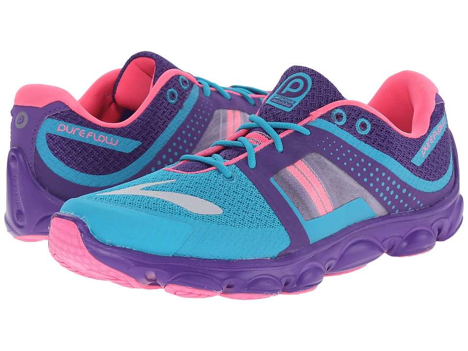 Brooks Kids - Kids PureFlow 4 (Little Kid/Big Kid) (Capri Breeze/Heliotrophe/Knocko) Girls Shoes