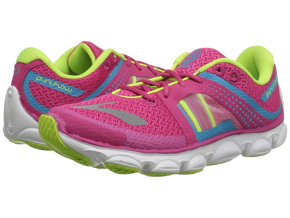 Brooks Kids - Kids PureFlow 4 (Little Kid/Big Kid) (Magenta/Blue Atoli/Nightlife) Girls Shoes