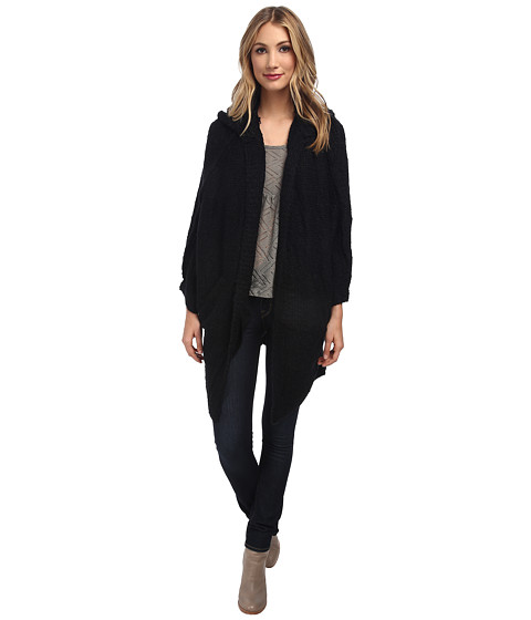 Free People - Amelia Cardi Sweater (Black) Women's Sweater