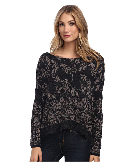 Free People - Floral Fields Sweater (Black Combo) Women's Sweater