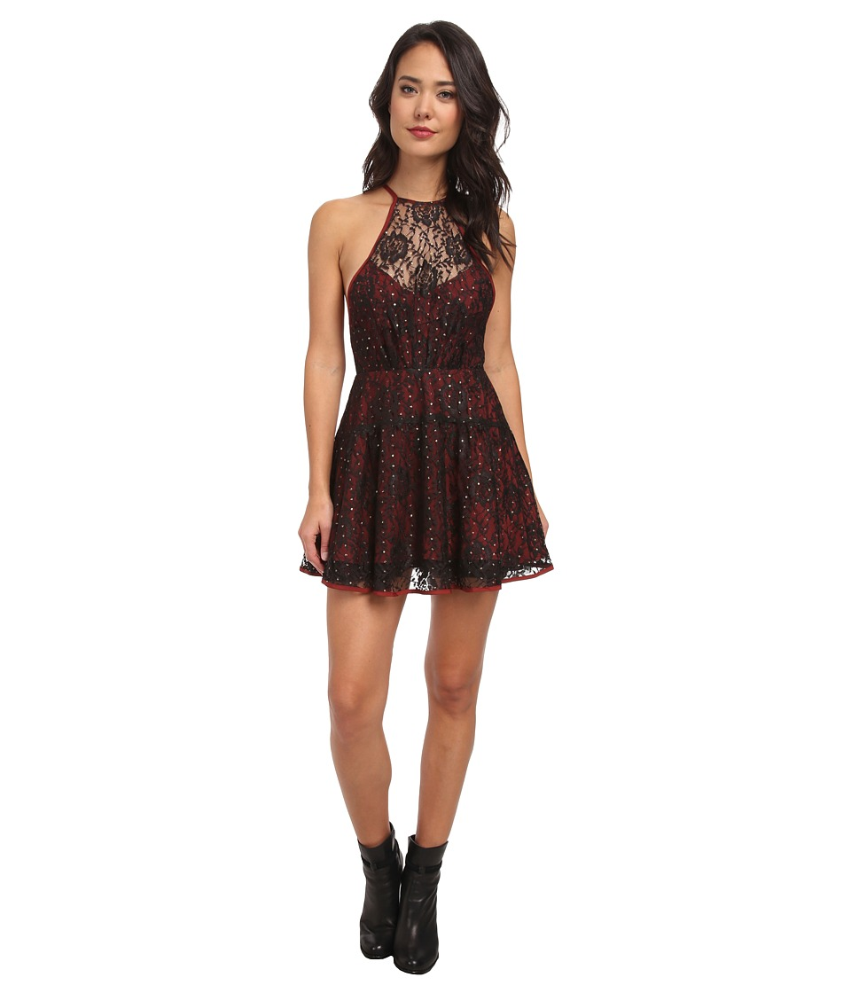 Free People - Wish Upon A Star Dress (Rich Red Combo) Women's Dress
