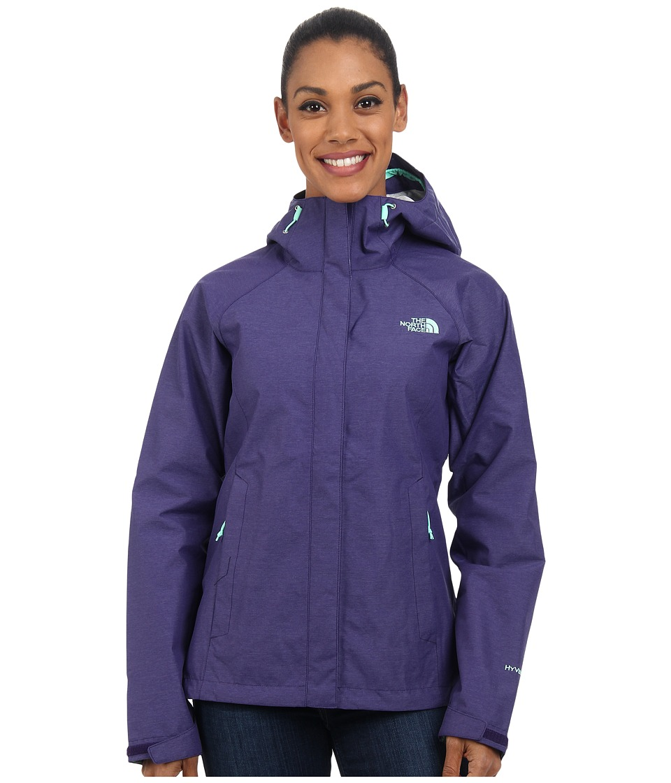 The North Face - Venture Jacket (Garnet Purple Heather) Women's Coat