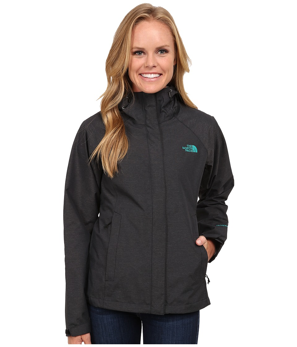 The North Face - Venture Jacket (TNF Black Heather/Kokomo Green) Women's Coat