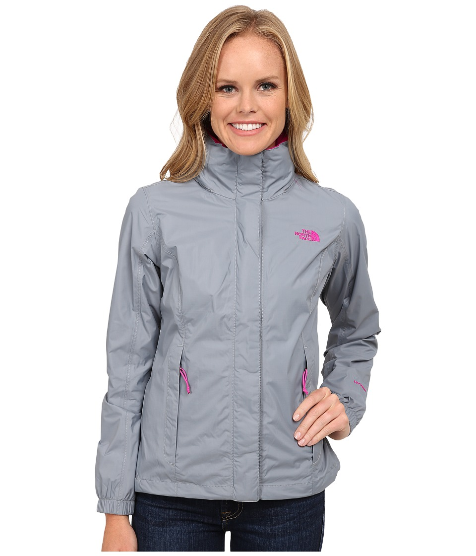 The North Face - Resolve Jacket (Mid Grey/Luminous Pink) Women's Coat