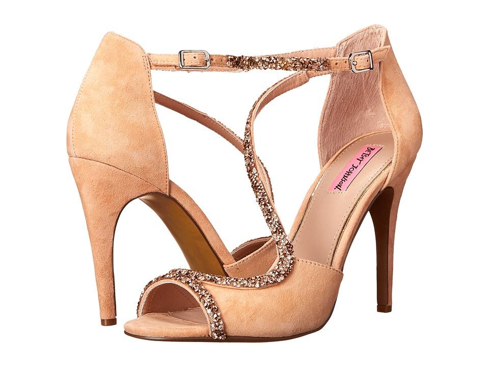 Betsey Johnson Gliimer (Blush) High Heels