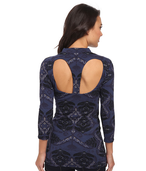 Free People - Cute N Cozy Top (Midnight Combo) Women's Clothing