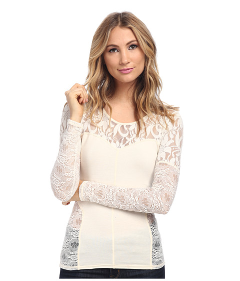 Free People - Sweet Thang Top (Cream) Women's Clothing