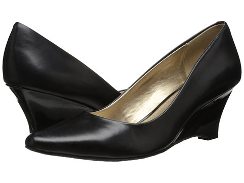 Circa Joan & David - Deacon (Black Leather) Women's Wedge Shoes