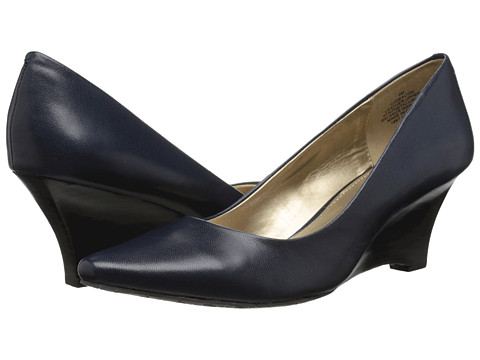 Circa Joan & David - Deacon (Navy Leather) Women's Wedge Shoes
