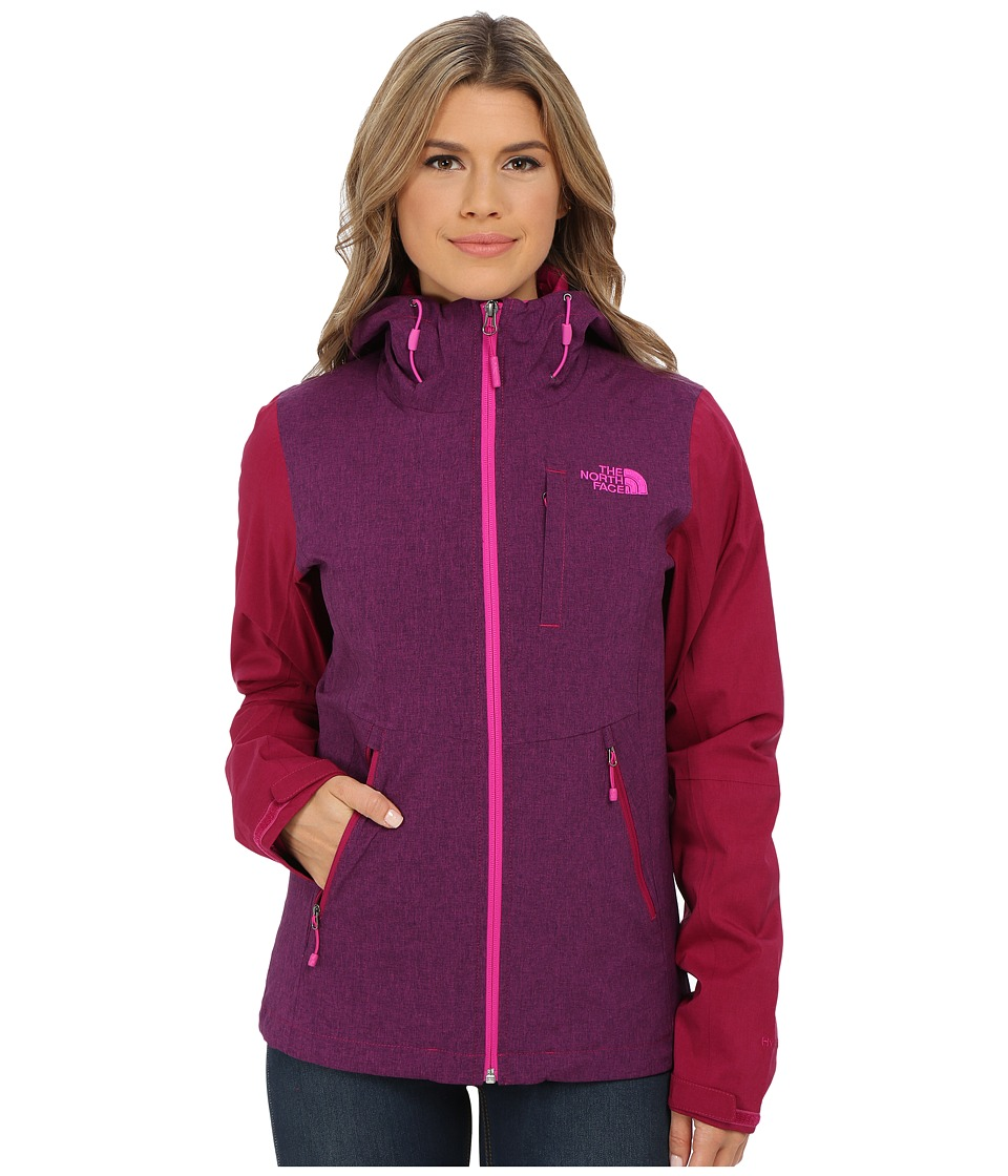 The North Face - ThermoBall Triclimate Jacket (Dramatic Plum Heather/Dramatic Plum) Women's Coat