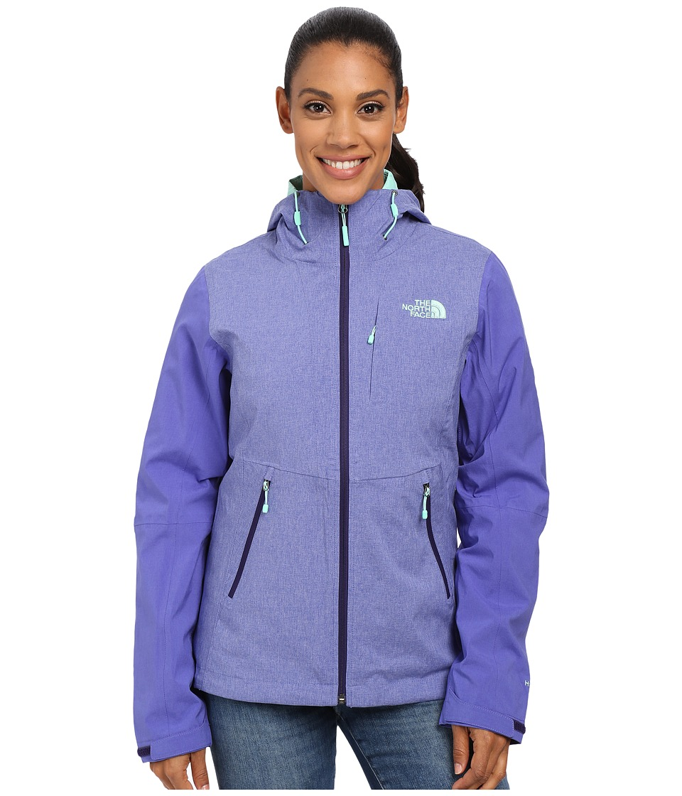 The North Face - ThermoBall Triclimate Jacket (Garnet Purple Heather/Starry Purple) Women's Coat