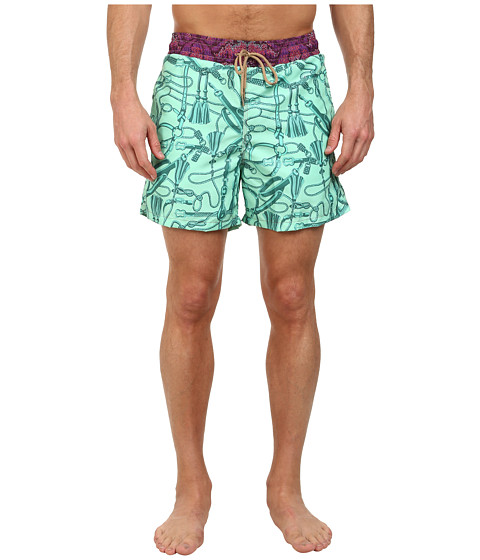 Maaji - Minty Windy Reins Swim Trunk (Multicolor) Men