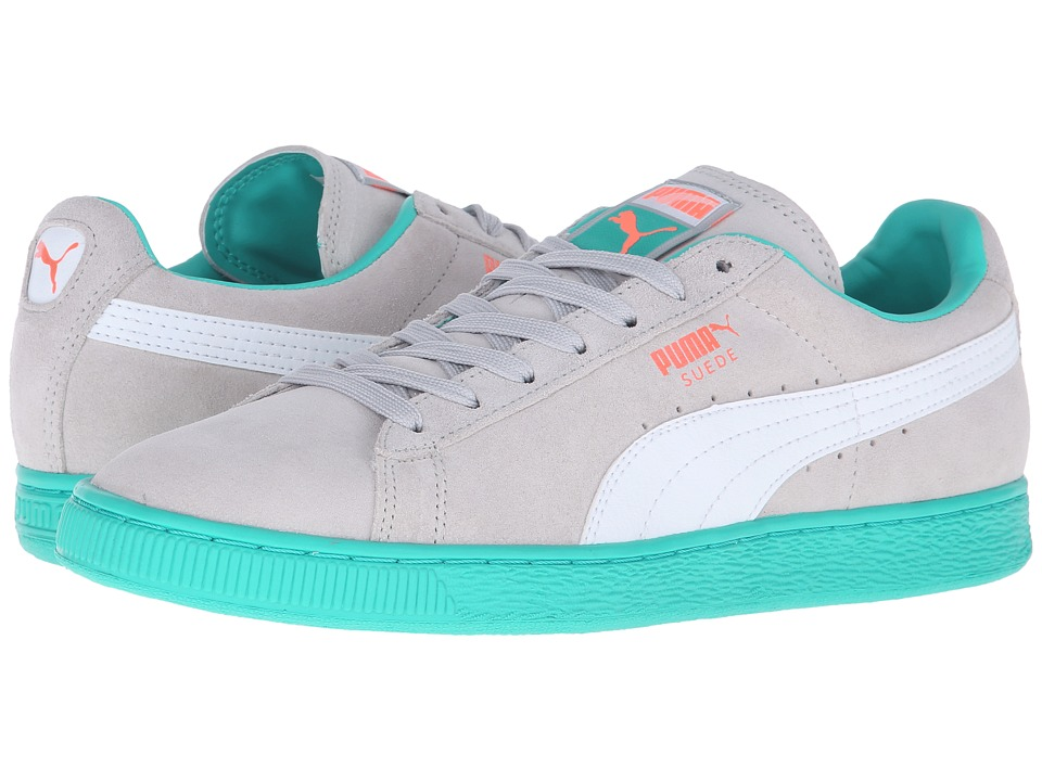 PUMA - Suede Classic+ LFS (Gray Violet/White/Fluo Green) Men