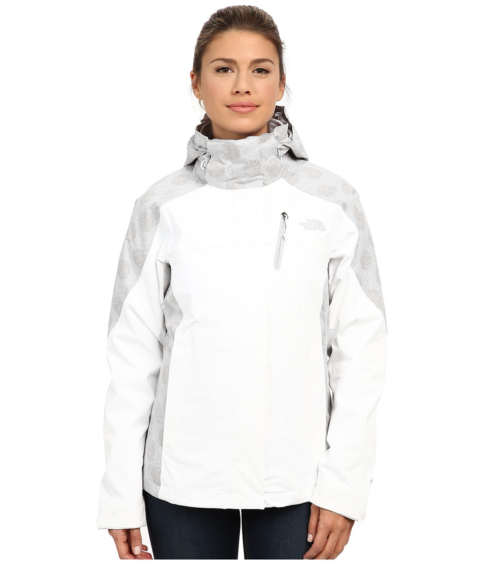 The North Face - Condor Triclimate Jacket (TNF White/Mid Grey Micro Dot Print) Women's Coat