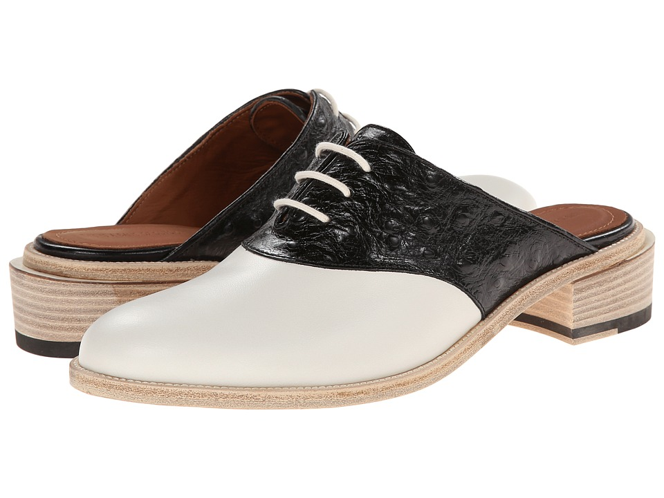 Band of Outsiders - Stacked Heel Saddle Mule (Black) Women's Clog/Mule Shoes