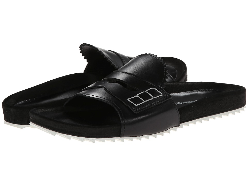 Band of Outsiders - Loafer Front Slip-On Sandal (Black) Women's Sandals