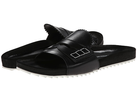 Band of Outsiders - Loafer Front Slip-On Sandal (Black) Women
