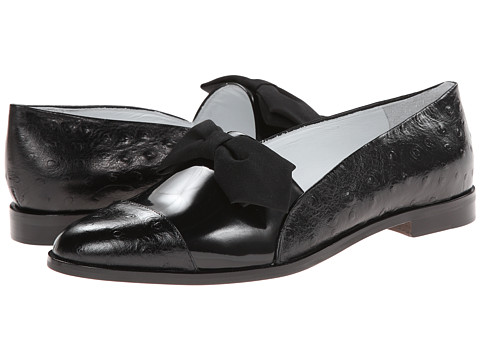 Band of Outsiders - Loafer Flat w/ Bowtie (Black) Women's Flat Shoes