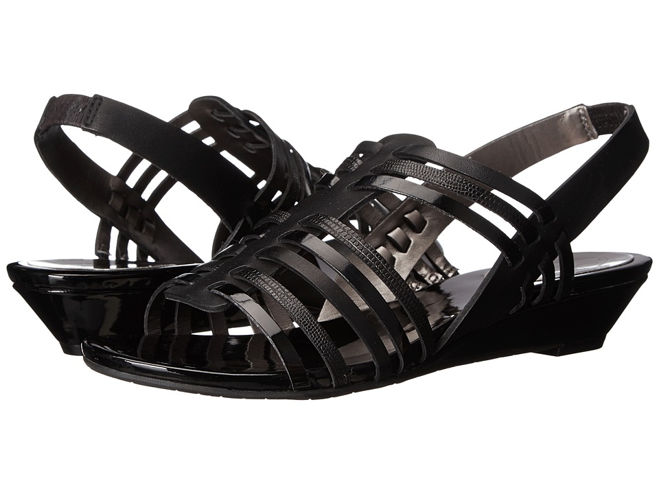 Circa Joan & David - Faiza (Black Multi Leather) Women's Sandals