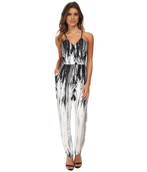 Brigitte Bailey - Notation Print Jumpsuit (White/Black) Women