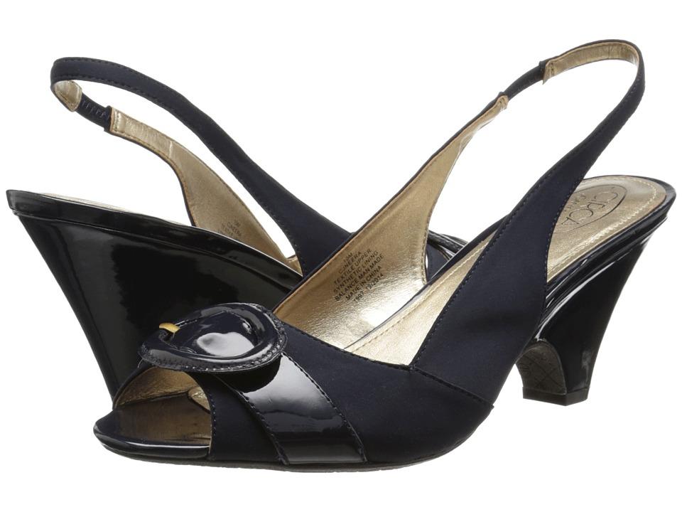Circa Joan & David - Neera (Navy Multi Fabric) High Heels