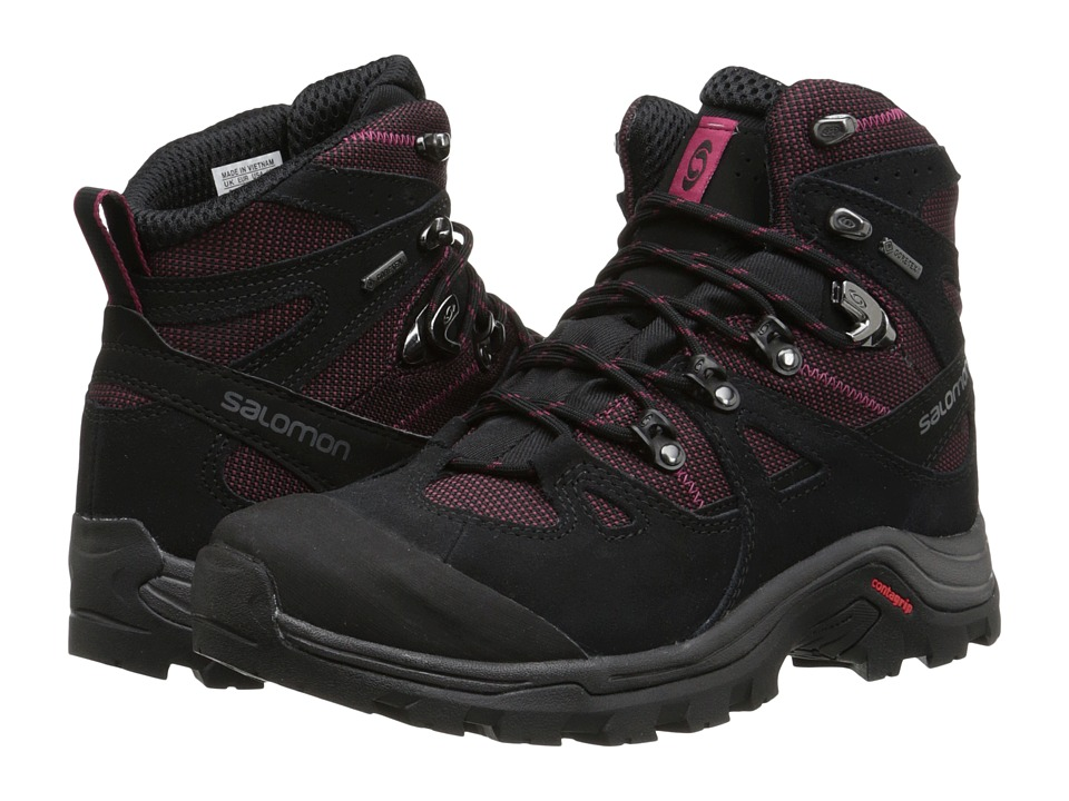 Salomon - Discovery GTX (Bordeaux/Black/Carmine) Women's Hiking Boots