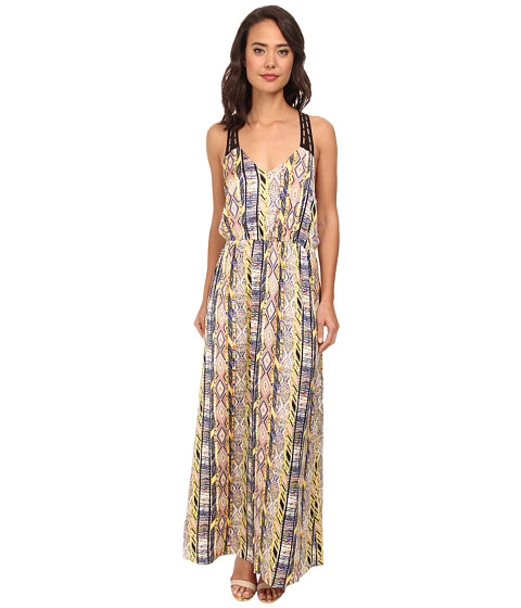 Gabriella Rocha - Coda Print Maxi Dress (Blue Combo) Women's Dress