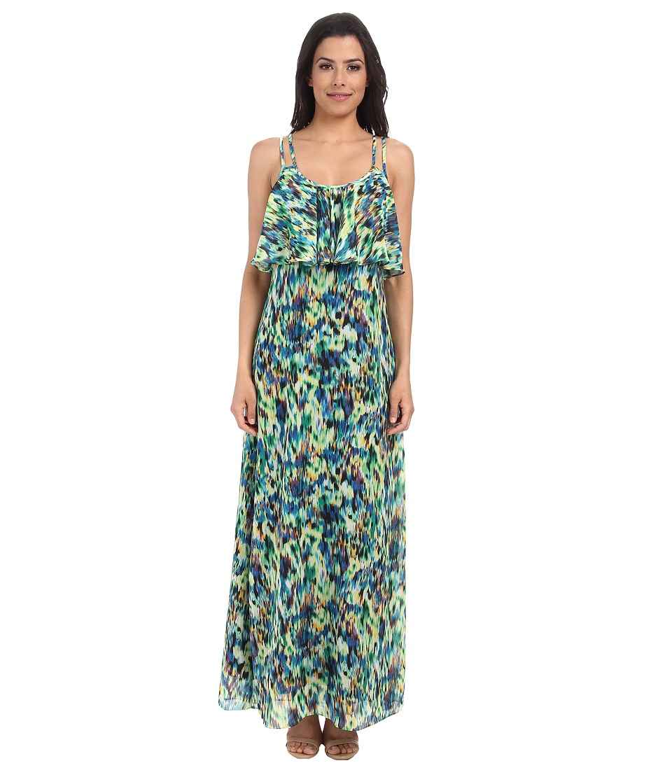 Gabriella Rocha - Danse Print Maxi Dress (Green Multi) Women's Dress