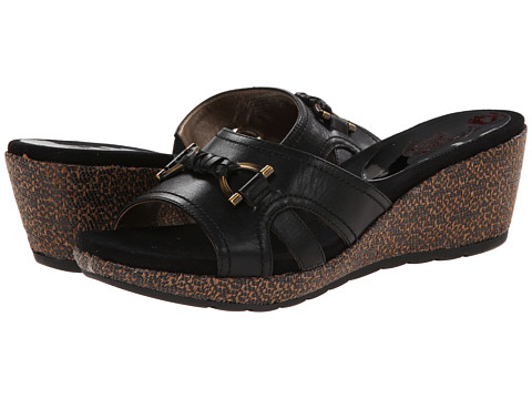 Circa Joan & David - Pence (Black Leather) Women's Sandals