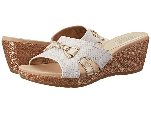 Circa Joan & David - Pence (White Leather) Women's Sandals