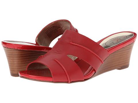 Circa Joan & David - Shanna (Medium Red Leather) Women's Wedge Shoes
