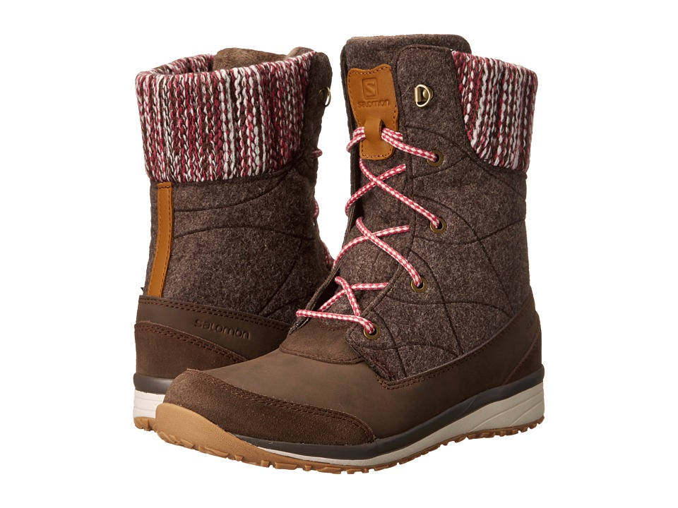 Salomon Hime Mid (Absolute Brown-X/Absolute Brown-X/Light Grey) Women