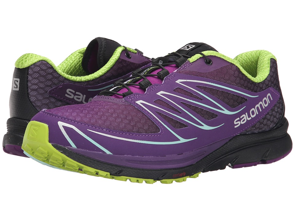 Salomon - Sense Mantra 3 (Passion Purple/Cosmic Purple/Granny Green) Women's Shoes