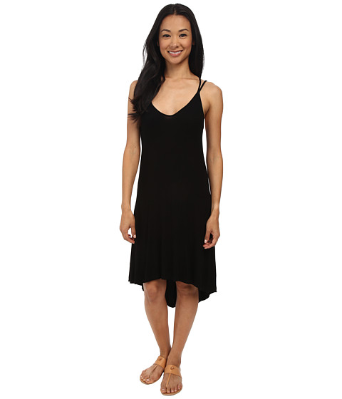 Splendid - 2x1 Rib Dress (Black) Women's Dress