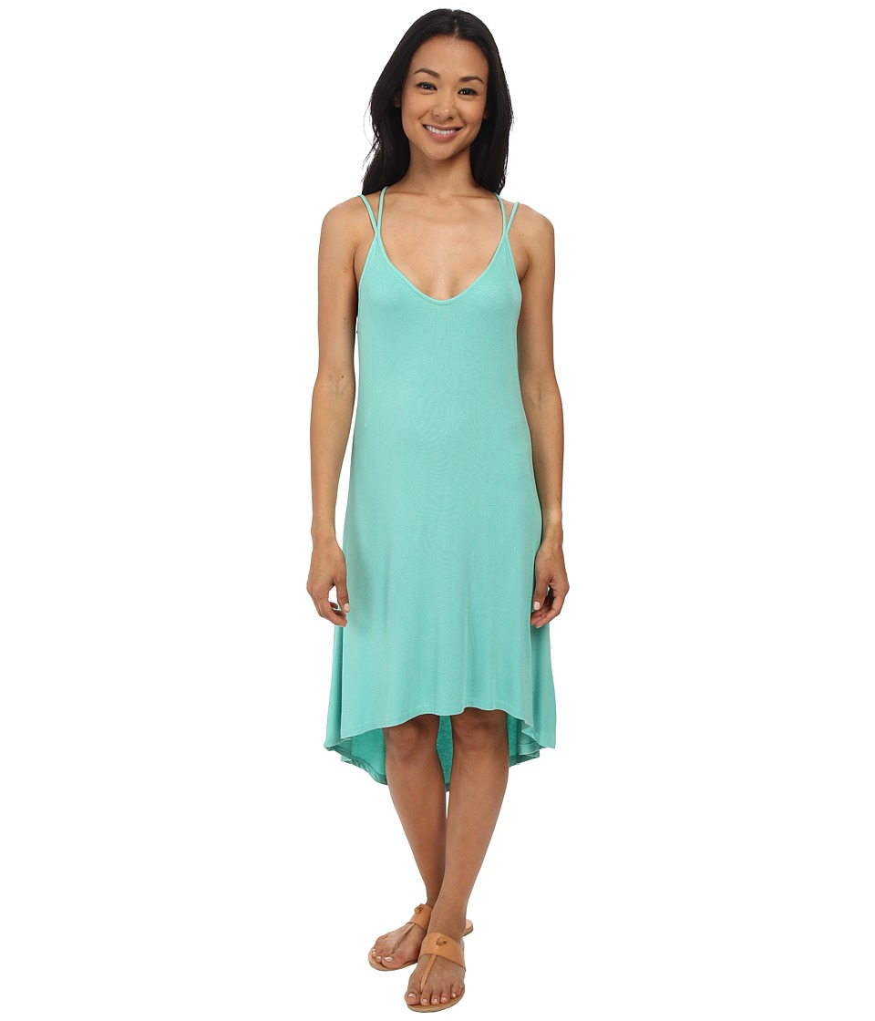 Splendid 2x1 Rib Dress (Sea Green) Women's Dress
