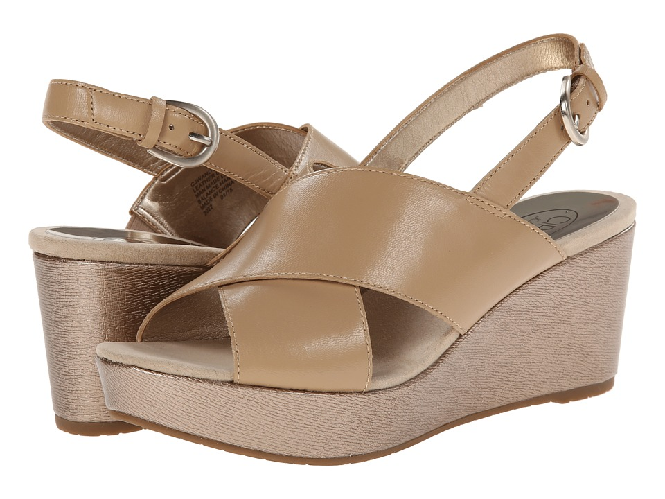 Circa Joan & David - Wandy (Light Natural Leather) Women's Wedge Shoes