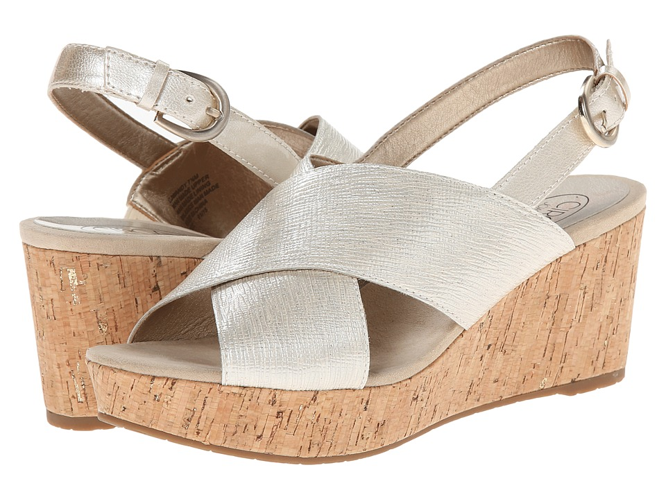 Circa Joan & David - Wandy (Off White Synthetic) Women's Wedge Shoes