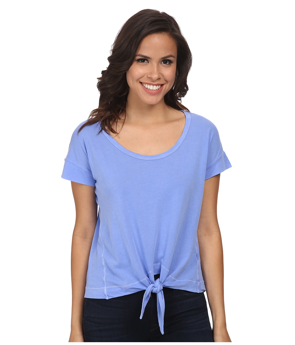 Splendid - Vintage Whisper Tie Front Tee (Blue Reef) Women