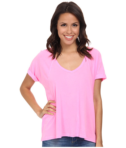 Splendid - Vintage Whisper Tee (Neon Pink) Women's T Shirt
