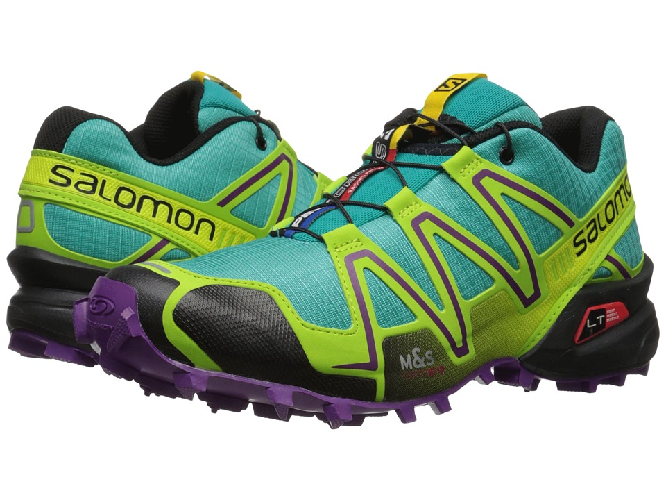 Salomon - Speedcross 3 (Teal Blue F/Granny Green/Passion Purple) Women's Running Shoes